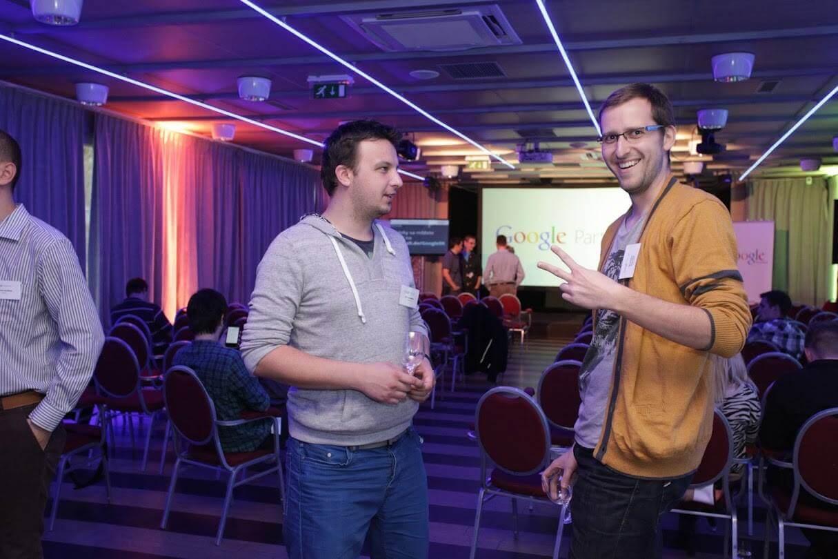 Ján Laurenčík a Stanislav Kukučka na Google Agency Day