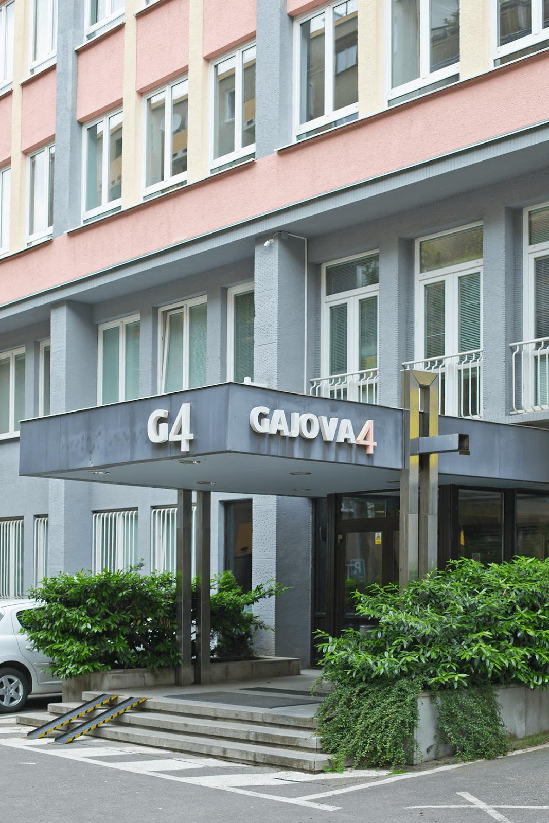 Sídlo Pizza SEO v rokoch 2006-2016 - kancelárska budova na Gajovej 4