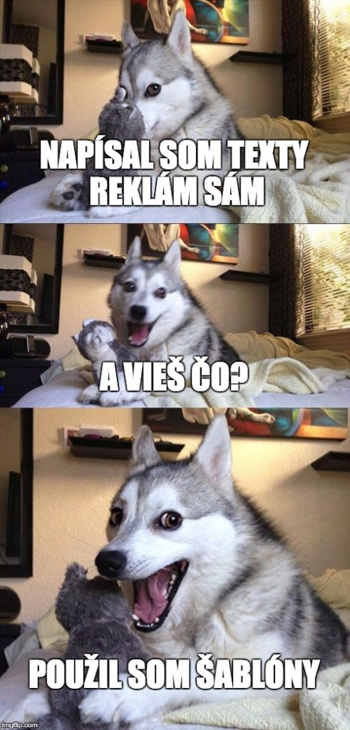 adwords sablony pes
