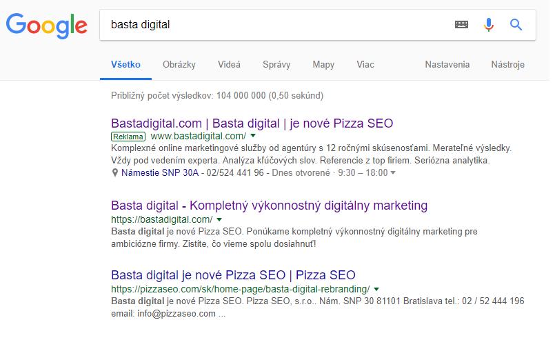 Indexácia SERP Google