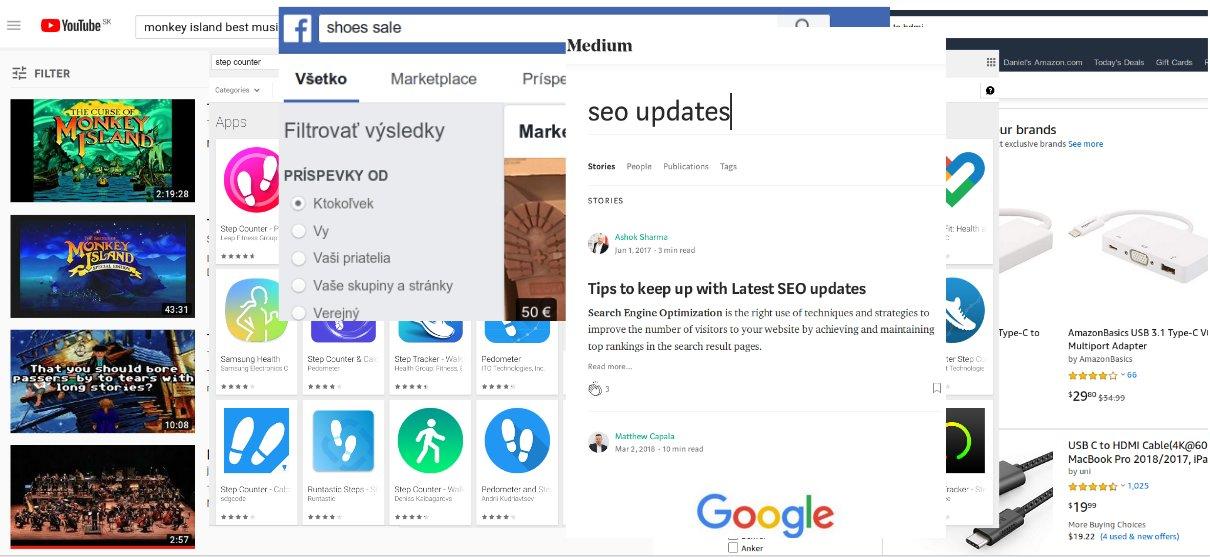 Iné platformy s vyhľadávaním