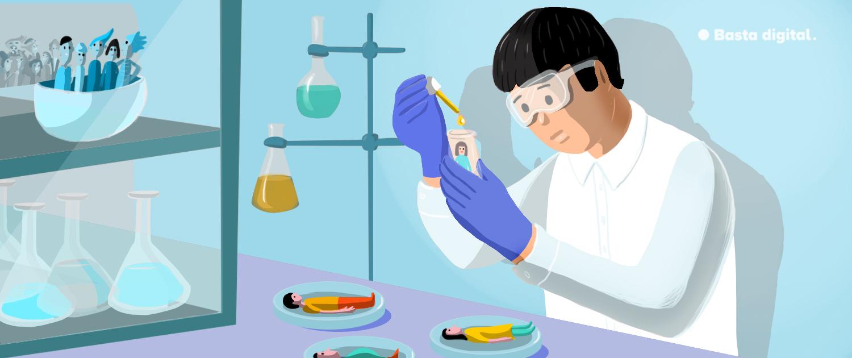 Laborant pri experimente