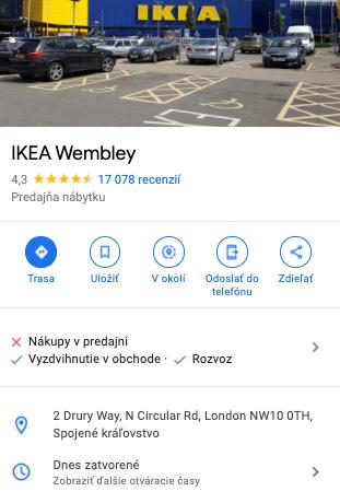Londýnska IKEA je zatvorená pre fyzický nákup, ale umožňuje vyzdvihnutie tovaru a informuje o tom svojich zákazníkov.