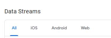 Data streams - Google Analytics 4 report - viacero zdrojov dát